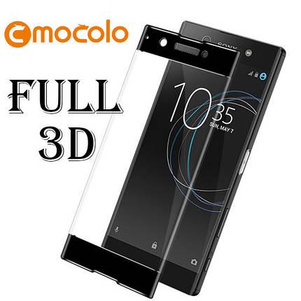 Защитное стекло Mocolo 3D для Sony Xperia XA1 Plus черный, фото 2