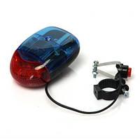 2в1 LED, светодиодная подсветка и полицейская сирена для велосипеда