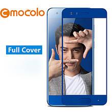 Защитное стекло Mocolo Full сover для Huawei Honor 9 синий