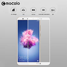 Защитное стекло Mocolo Full сover для Huawei P Smart белый