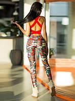 Комбинезон для фитнеса Fit&Fashion разноцветный КБ-122