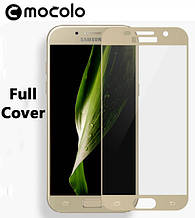 Защитное стекло Mocolo Full сover для Samsung Galaxy A3 2017 A320 золотистый