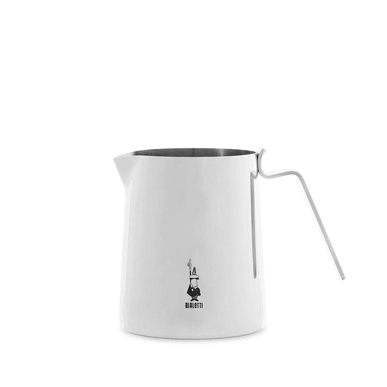 Молочник-питчер Bialetti Elegance из нержавеющей стали, Белый, 500 мл