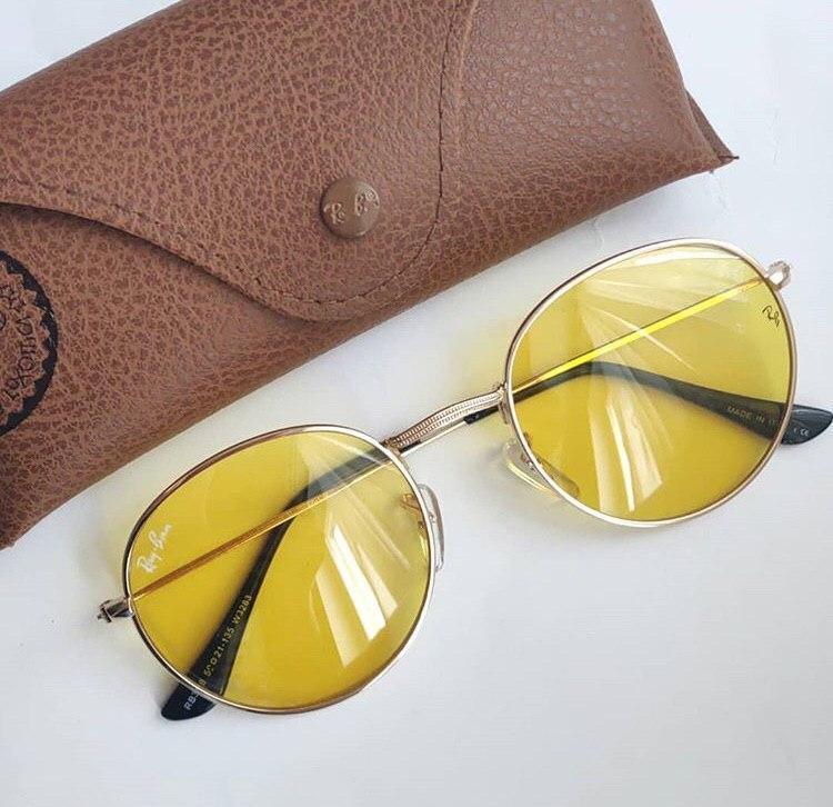 Женские солнцезащитные очки Ray Ban желтые (копия)
