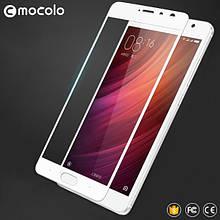 Защитное стекло Mocolo Full сover для Xiaomi Redmi Pro белый