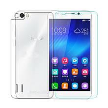 Защитное стекло Optima 2.5D на заднюю крышку для Huawei Honor 6 прозрачный