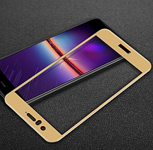Защитное стекло OP Full cover для Huawei Nova 2 золотистый
