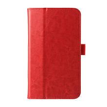 Чехол книжка кожаный Crazy Horse Grain для Asus Fonepad 7 FE170CG красный