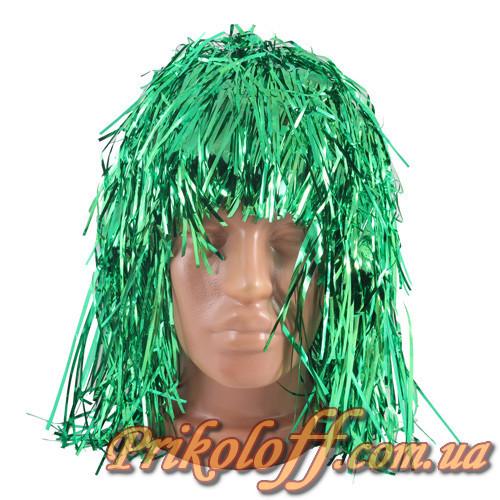 Перука Блискучий дощик, зелений