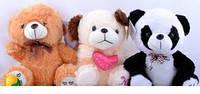 Мягкие игрушки (панда,медведь,собака) №4819, отличные подарки детям и девушкам , отличный подарок