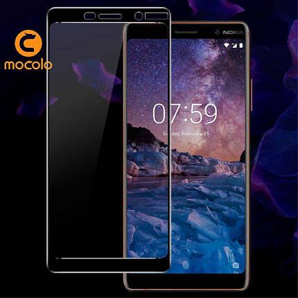 Защитное стекло Mocolo 3D для Nokia 7 plus черный, фото 2