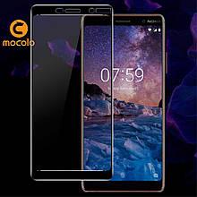 Защитное стекло Mocolo 3D для Nokia 7 plus черный