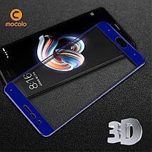 Захисне скло Mocolo 3D для Xiaomi Mi Note 3 синій