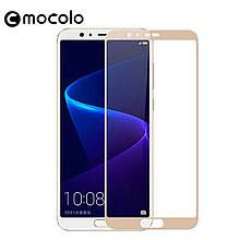 Защитное стекло Mocolo Full сover для Huawei Honor 10 золотистый