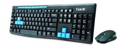 Клавиатура+мышь  HAVIT HV-KB527GCM black/blue