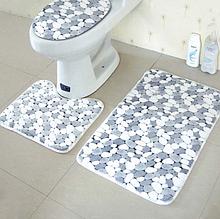 Набор ковриков для ванной комнаты из 3-х предметов