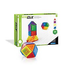Магнитный конструктор детский Guidecraft PowerClix Solids 24 детали (G9420)