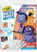 Книга-розфарбування із чарівними фломастерами (не бруднять рук) Вампирина, Color Wonder, Crayola, фото 1