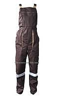 Полукомбинезон рабочий BROWN, коричневый с бежевым (тк. Саржа)