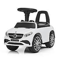 Толокар-каталка Mercedes с магнитолой Светятся передние фары M 3818-1 белый