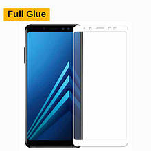 Защитное стекло Optima 3D Full Glue для Samsung A530 A8 2018 White