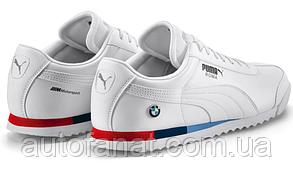 Оригинальные мужские кроссовки BMW M Motorsport Sneakers Puma Roma, White (80162461149)