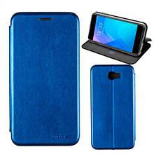Чехол книжка кожаный G-Case Ranger для Huawei Y7 синий