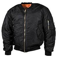Куртка пилот, черная