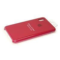 Чехол силиконовый Айфон Apple IPhone XS Max Original Rose Red