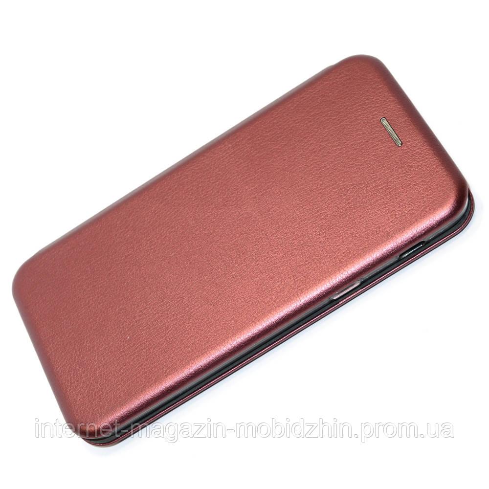Чехол книжка Samsung J810 Galaxy J8 2018 бордовая G-Case Elite