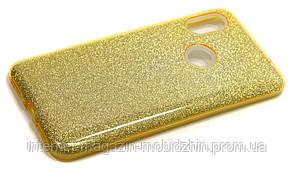 Чехол силиконовый Xiaomi Redmi Note 6 Pro золотой Glitter-2