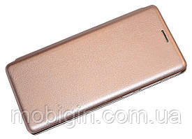 Фирменный чехол-книжка Samsung A920 Galaxy A9 2018 золотая G-Case Elite