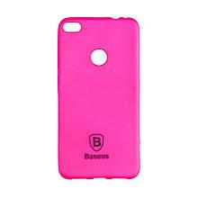 Чехол накладка силиконовый Baseus Soft Colorit для iPhone X Xs розовый