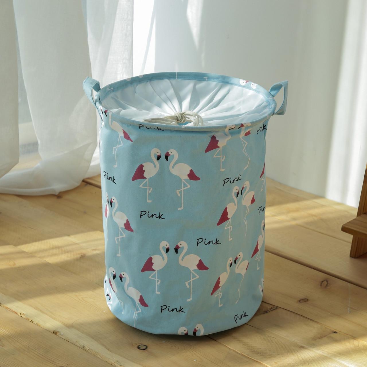 Корзина для игрушек, белья, хранения на завязках Фламинго Berni Home