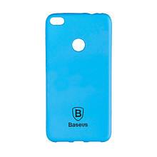 Чехол накладка силиконовый Baseus Soft Colorit для iPhone X Xs синий