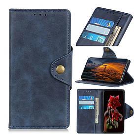 Чехол книжка для Samsung Galaxy A70 A705FD боковой с отсеком для визиток, Classic style, темно-синий