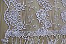 Шарф білий фатиновий ажурний святковий 150-8, фото 2