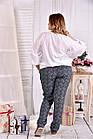 Белая блузка 0546-1 большой размер, фото 4