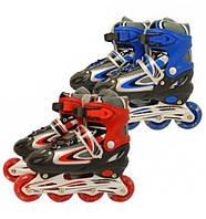 Ролики детские красные и синие 8901A