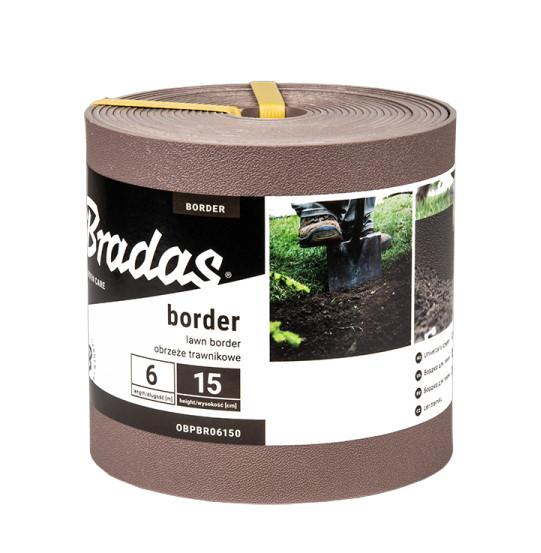 Бордюр для газона  15см*6м, коричневый, OBPBR06150