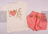 Комплект для девочки шоры и футболка ТМ Breeze р.110-140