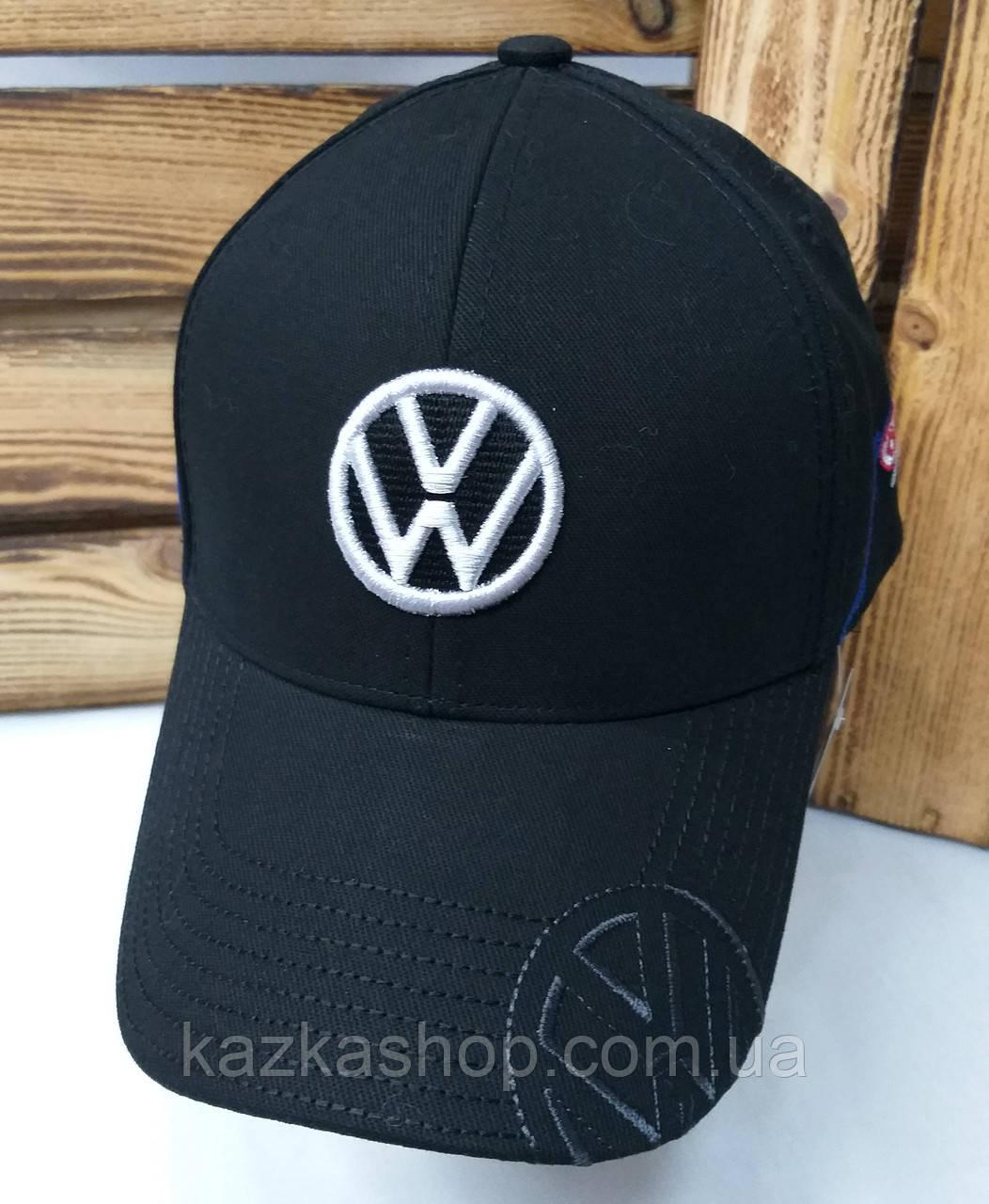 Котоновая кепка с логотипом Volkswagen, сезон весна-осень, большая вышивка, на регуляторе