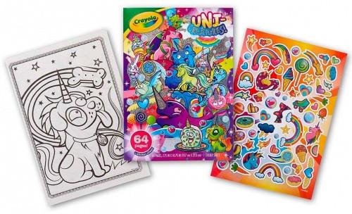 книга раскраска с наклейками уни существа 64 страницы для раскрашивания Crayola