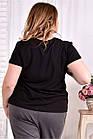 Черная футболка с надписью 0562-1 (турецкий трикотаж), фото 4