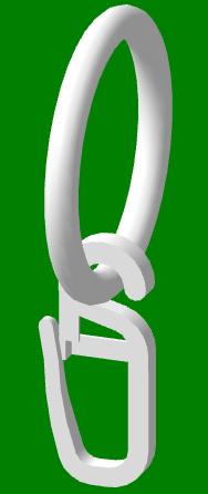 Кольцо с крючком  на кованый карниз