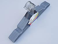 Плечики металлические в силиконовом покрытии серебристого цвета, 40 см,10 штук в упаковке