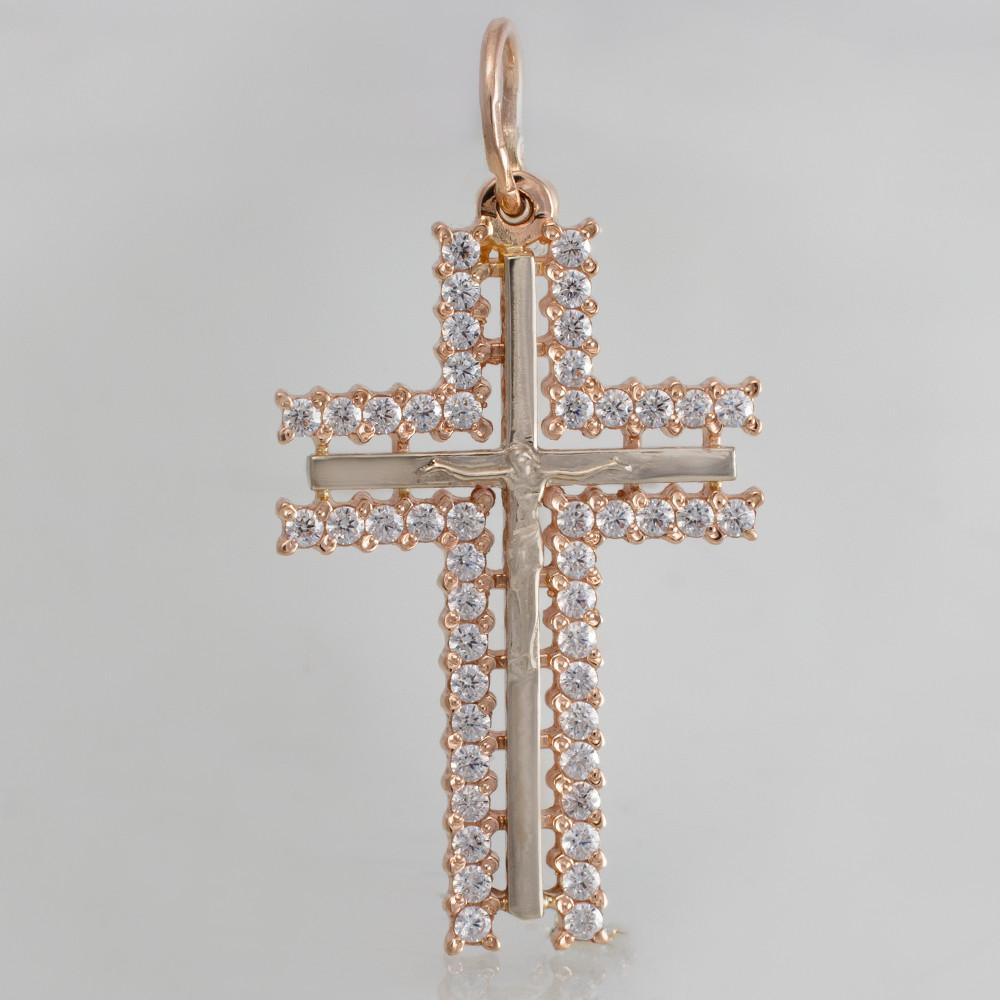 Золотой крестик с фианитами. ПП50069