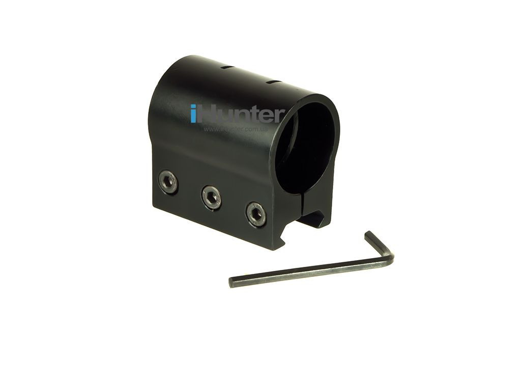Кронштейн кріплення моноблок на планку Вівер/ Пикатинни для ліхтарів лазерів ЛЦУ на рейці
