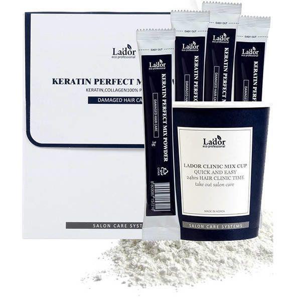 Кератиновая маска для волос с коллагеном La'dor Keratin Perfect Mix Powder