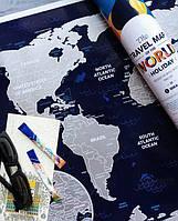 "Скретч карта 630012 ""Travel Map Holiday World"""